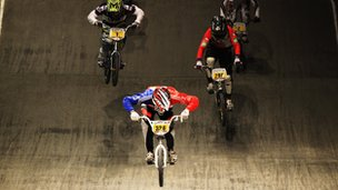 Quillan leads the Boys 16 field at the UCI BMX World Championships