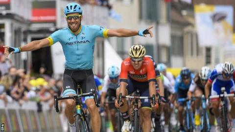 Omar Fraile wins the opening stage of the Tour of Romandie