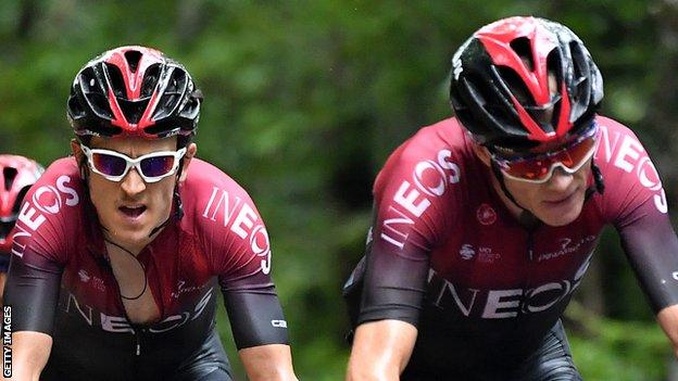 Chris Froome and Geraint Thomas