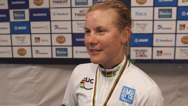 World individual time trial champion Linda Villumsen