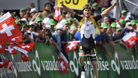 Antwan Tolhoek wins stage six of the 2019 Tour of Switzerland