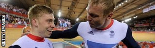 Philip Hindes and Sir Chris Hoy