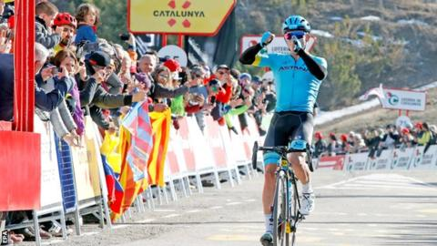 Miguel Angel Lopez wins the fourth stage