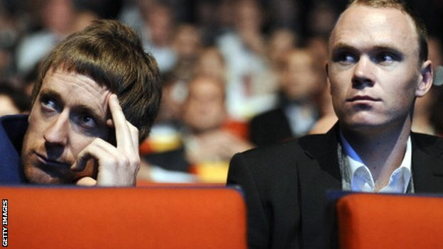 Sir Bradley Wiggins and Chris Froome