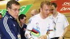 Chris Hoy suffers injury during the 2009 Copenhagen World Cup