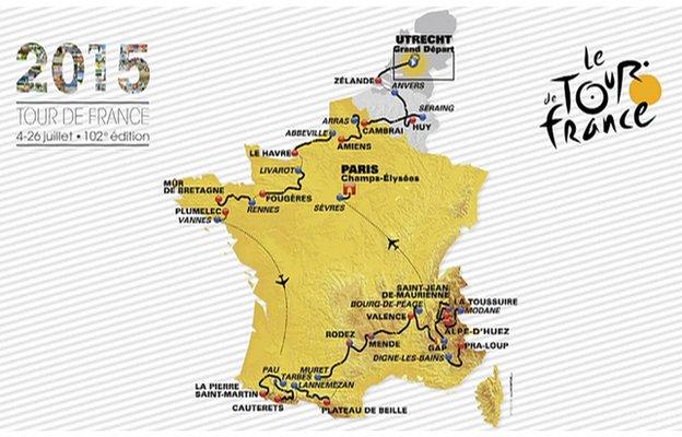 2015 Tour de France route