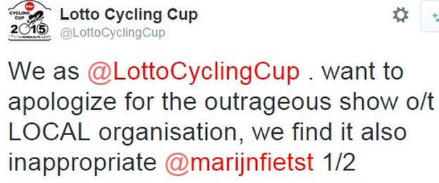 Lotto Cycling Cup tweet