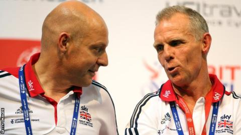 Sir Dave Brailsford and Shane Sutton
