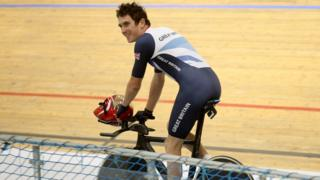 Thomas prepared for the 2012 Olympics at the velodrome in Newport