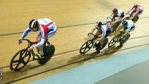 Jason Kenny in action for Great Britain