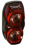SMART 1 watt LED rear light - very bright!
